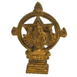 Sudharshana Chakra Brass Idol
