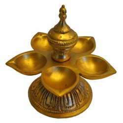 Panch Deepa Brass Idol