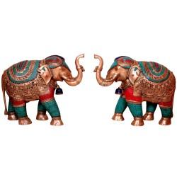 Coral Designed Elephant