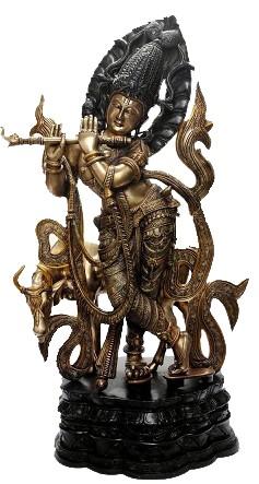Modern Krishna Holding Flute