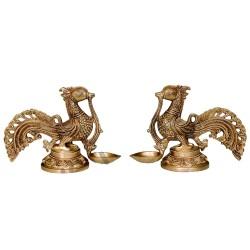 Peacock Deepa Brass Idol