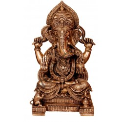 Gajanana Brass Statue