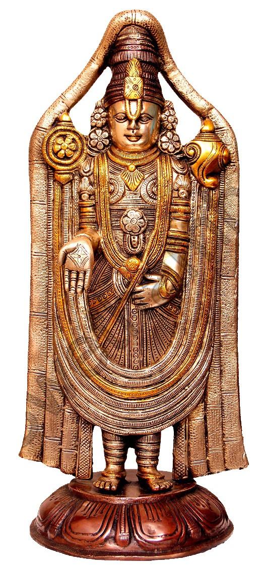 Venkateshwara Brass Statue