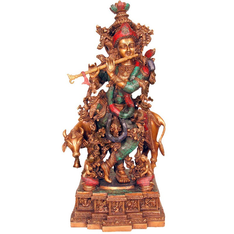 Krishna with Flute Coral