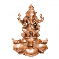Gajanana Deepa Brass