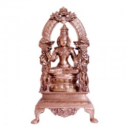 Blessing Lakshmi Brass Idol