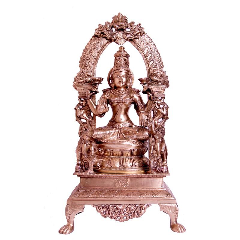 Blessing Lakshmi Brass Idol
