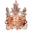 Designed Urli with Ganesha, Lakshmi, Saraswathi