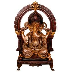 Ganesha Sitting on Prabhavli