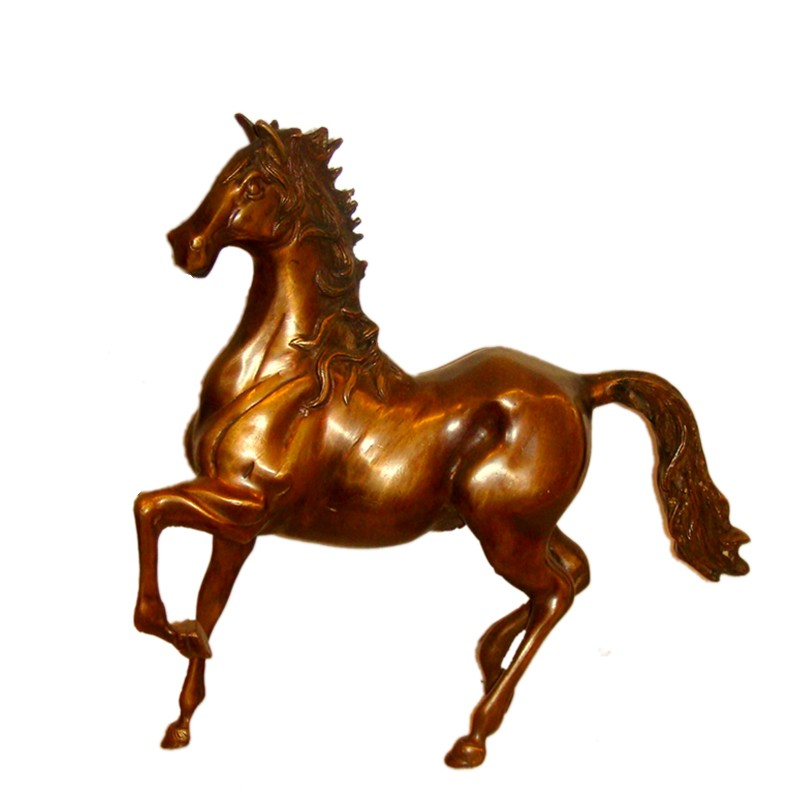 Horse Brass Statue