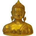 Lord Buddha Bust Brass Statue