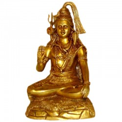 Blessing Shiva Brass Statue