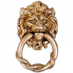 Lion Face Brass Door Knocker
