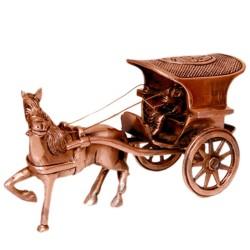 Designed Brass Horse Cart