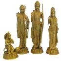 Ram Darbar antique finish brass idol