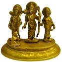 Lord Ram Darbar on brass peeta
