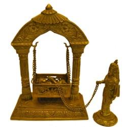 Krishna on Jhoola with Yashodha