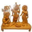 Ram Darbar statues with fruit basket wooden idol