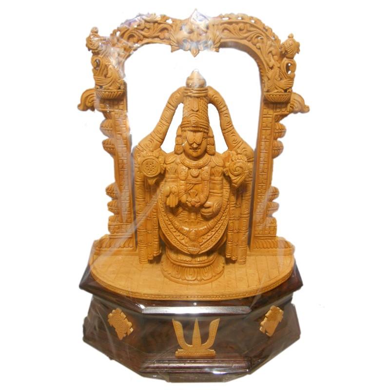Lord Venkateshwara wooden Statue