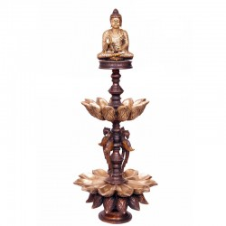Two Stand Buddha Blessing Deepa