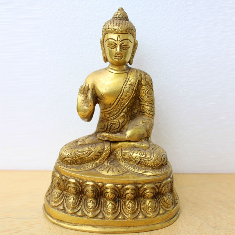Buddha in jnana mudra Brass idol for meditation online