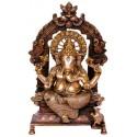 Peeta Prabhavali Ganesha Idol