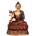 Meditating Coral Buddha Idol