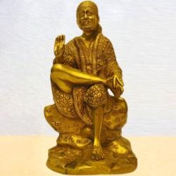 12 Inch Shirdi Sai Baba Brass Statue for festival puja