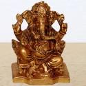 Lord Ganesha antique finished brass idol online