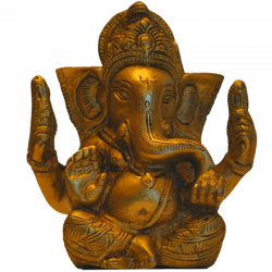 Blessing Ganesha Brass Idol