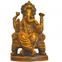 Blessing Ganapathi Brass Statue