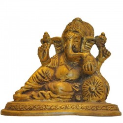 Relaxing Ganesha Brass Idol