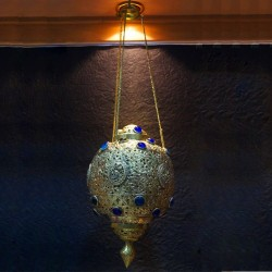 Beautiful Handmade Brass Wall Hanging Lamp