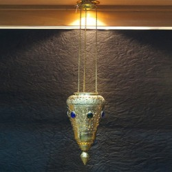 Cone Shaped Brass Hanging Lamp
