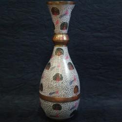Brass Flower Vase with Beautiful Design Craft