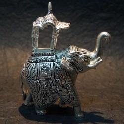 Elephant Ambari aluminium idol