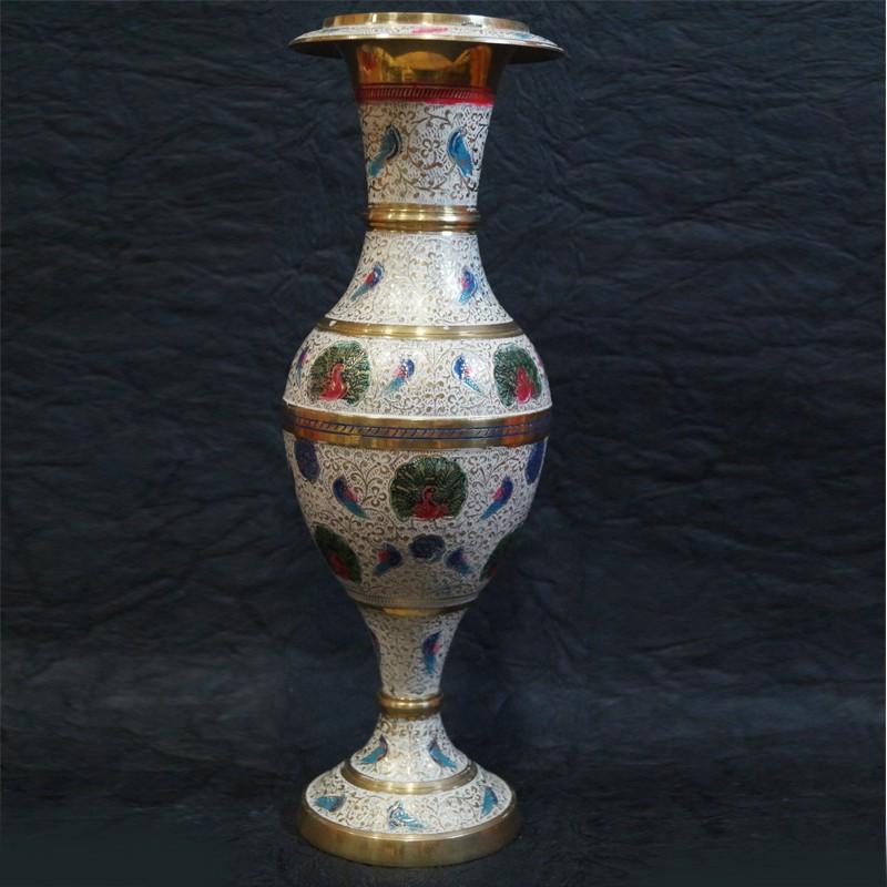 Brass Flower Vase With Stand Online Puja Sanskaram