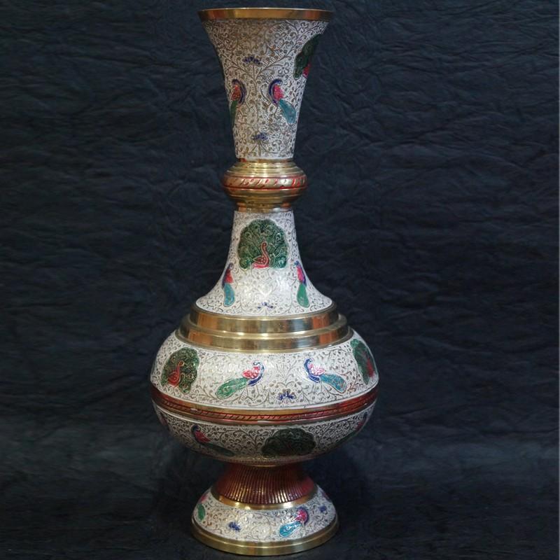 Hand crafted Brass Flower vase online & Hand crafted Brass Flower vase online - Puja Sanskaram