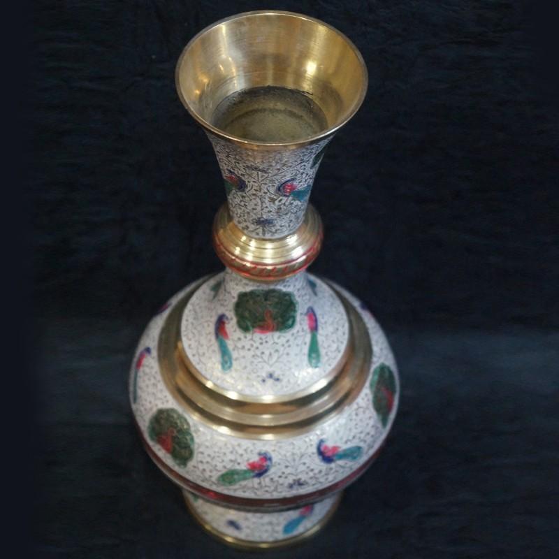 Hand Crafted Brass Flower Vase Online Puja Sanskaram