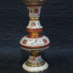 Brass Moulded Flower Vase with Design