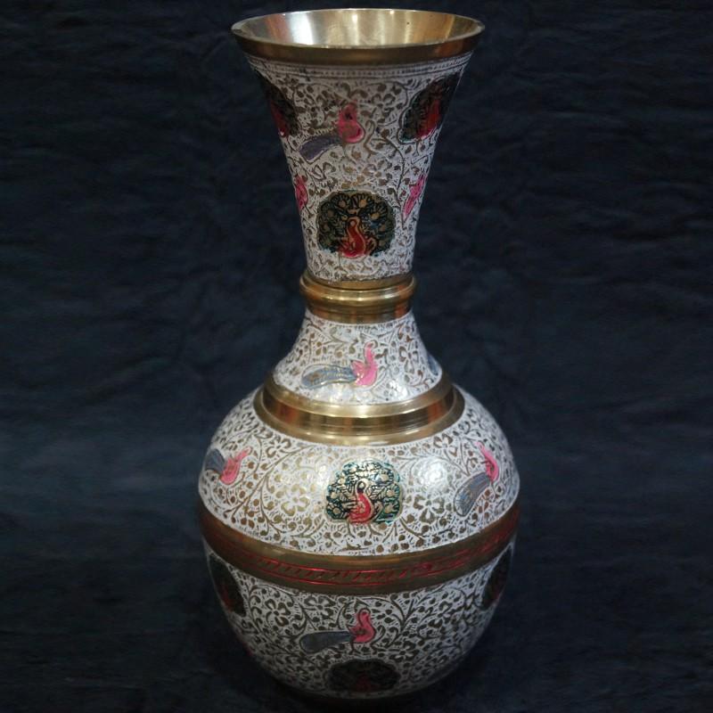 Buy Brass Flower Vase Online Puja Sanskaram