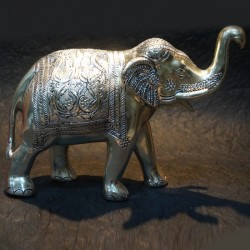 Walking Elephant aluminium idol
