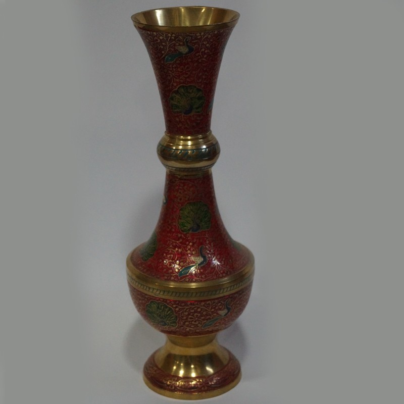Hookha Shaped Brass Flower Vase Online Puja Sanskaram