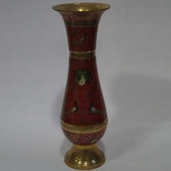 long designed brass flower vase