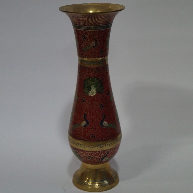 Puja Sanskaram & long designed brass flower vase