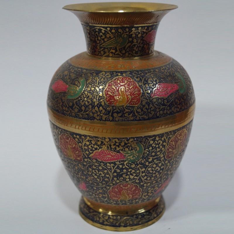 Beautiful Designed Brass Flower Vase Puja Sanskaram
