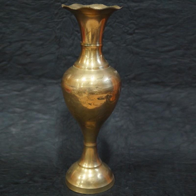 Brass Flower Vase For Spiritual Decor Puja Sanskaram