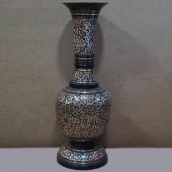 Wide bottom brass flower vase