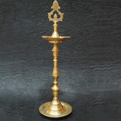Brass deepa with design on top online for festivals