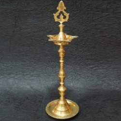 Brass moulded deepas for festival pujas
